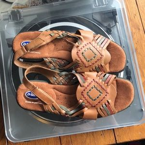 Multi-Color and Tan Dr. Scholl's Sandals w/ Strap
